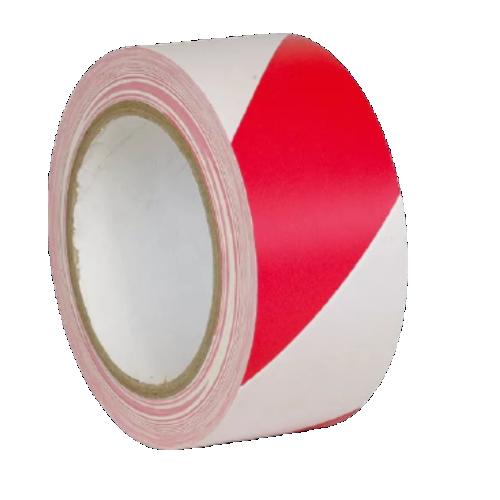 Лента для разметки пола красно-белая (Premium разметочная)