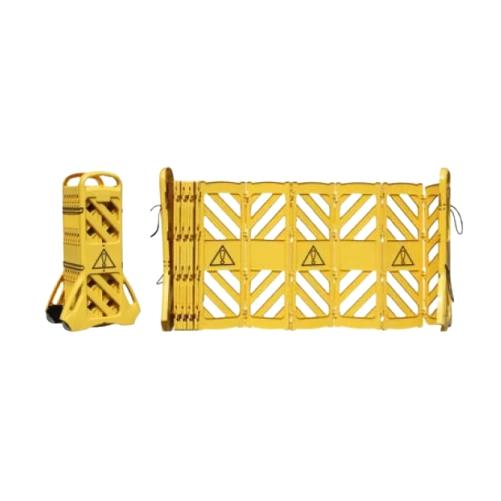 Переносное раздвижное ограждение-гармошка (желтое)