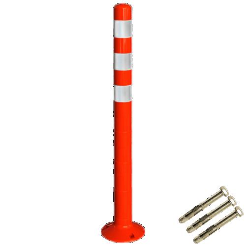 Столбик сигнальный упругий ССУ-1000-3 с крепежом [мягкий, гибкий, парковочный дорожный столбик]