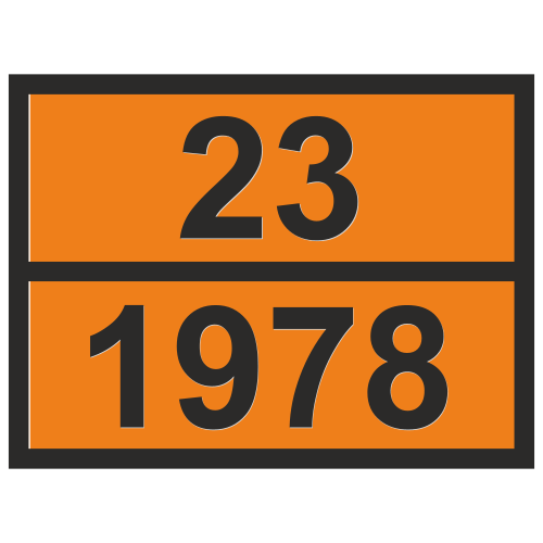 Табличка опасный груз 23-1978 Пропан
