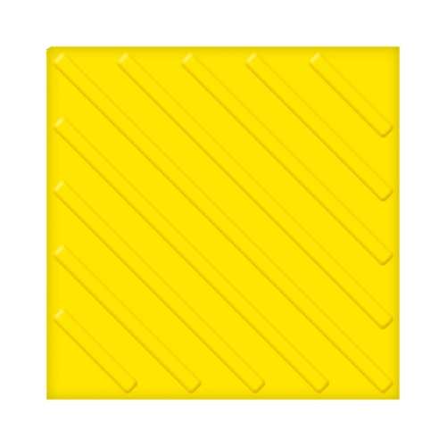 Бетонная тактильная плитка с диагональным рифом (300 мм)