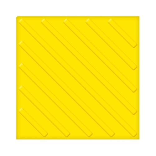 Тактильная плитка ПВХ с диагональным рифом (300 мм)