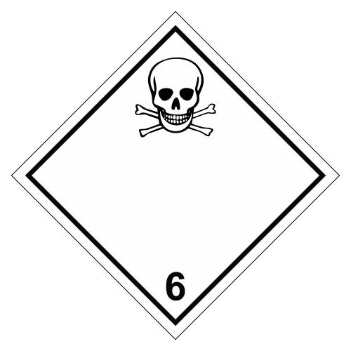 Знак опасности. Класс 6.1. Токсичные вещества