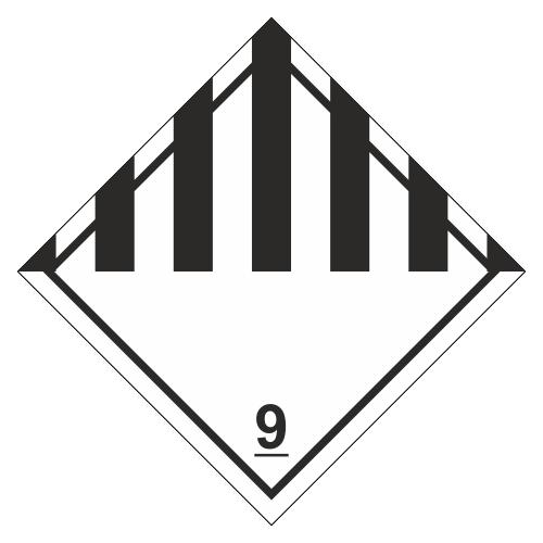 Знак опасности. Класс 9.1. Прочие опасные вещества