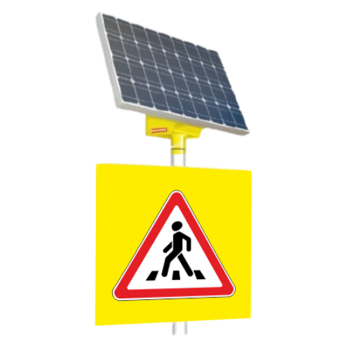 Автономный светодиодный знак 1.22 Пешеходный переход [На солнечных батареях]