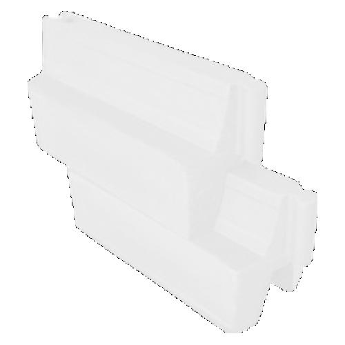 Дорожный водоналивной вкладывающийся барьер, пластиковый БВ-В-1-Б [Белый]