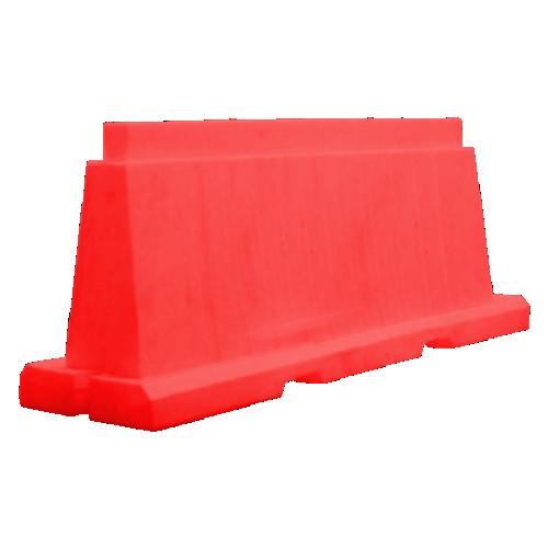 Дорожный барьер водоналивной, пластиковый БВ-В-1.5-К [красный, вкладывающийся]
