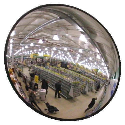 Обзорное универсальное сферическое зеркало круглое Ø-800-2