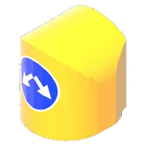 Пластиковый осевой дорожный разделительный буфер БДБ-2