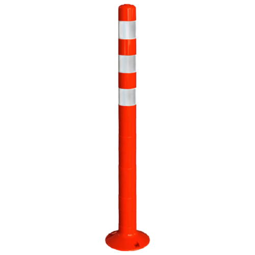 Столбик сигнальный упругий ССУ-1000-3 [мягкий, гибкий, парковочный дорожный столбик]