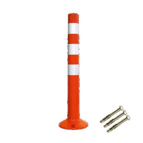 Столбик сигнальный упругий ССУ-750-3 с крепежом [мягкий, гибкий, парковочный дорожный столбик]