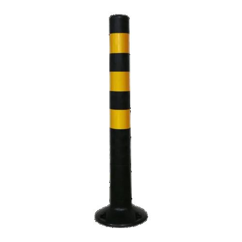 Столбик сигнальный упругий ССУ-750-Ч [черный, мягкий, гибкий, парковочный дорожный столбик]