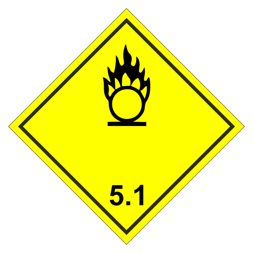 Знак опасности. Класс 5.1. Окислитель