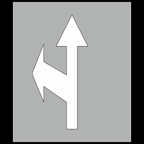 """Трафарет для нанесения дорожной разметки 1.18 """"Движение по полосе прямо и налево"""""""