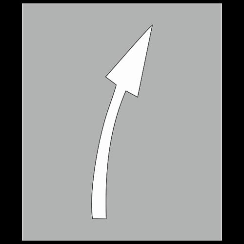 """Трафарет для дорожной разметки 1.19 """"Сужение проезжей части вправо"""""""